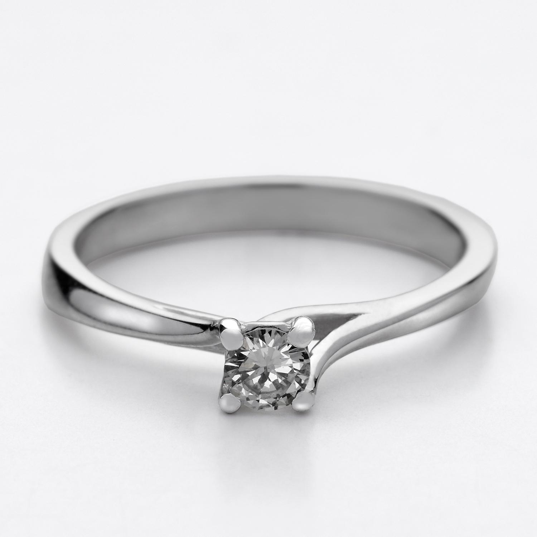 "Anello Solitario con diamante ""Amea"""