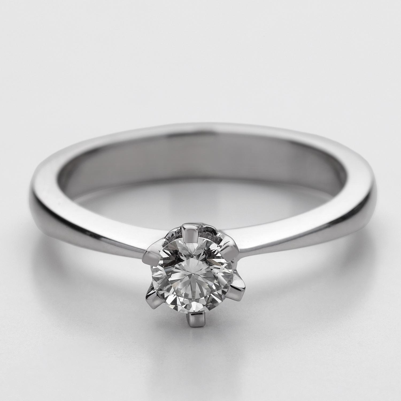 """Anello Solitario con diamante """"Stella"""""""